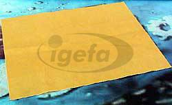 Fensterleder synthetisch  40 x 50 cm gelb