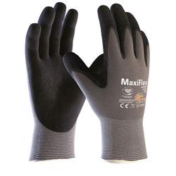 ATG MaxiFlex Ultimate Nylon-Strickhandschuh grau/schwarz Größe 9