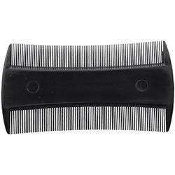 Läusekamm ABS schwarz 9 cm