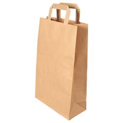 Vorschau: Papier-Tragetasche braun 22+10x36 cm online kaufen - Verwendung 2
