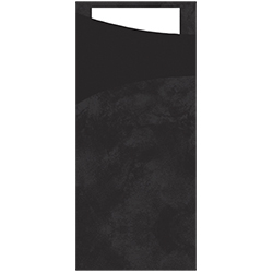 Duni Sacchetto Bestecktasche schwarz