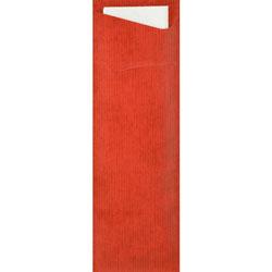 Duni Dunisoft-Bestecktasche Sacchetto Slim 7 x 23 cm rot