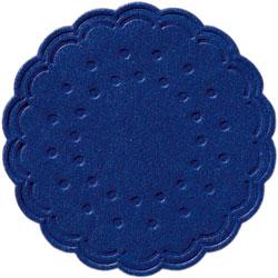 Duni Untersetzer 7,5 cm dunkelblau