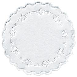 Duni Untersetzer rund 9 cm weiß