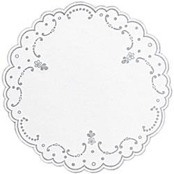 Duni Tablettdecke rund 19 cm weiß