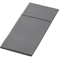 Duni Duniletto Slim Servietten-Bestecktasche 40 x 33 cm granite-g