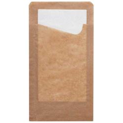 Duni Snack Sacchetto Bestecktasche craft-braun