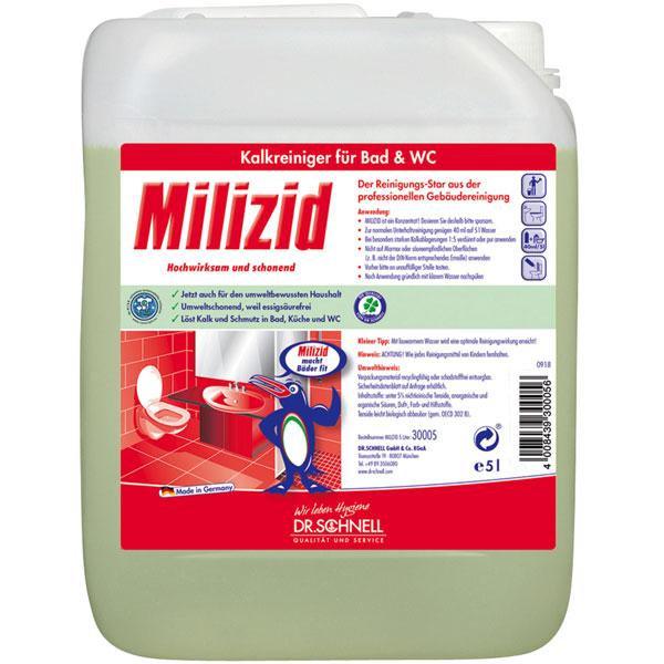 Dr.Schnell Milizid Sanitärreiniger-/Kalklöser 5 Liter