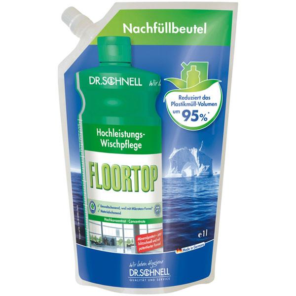 Dr.Schnell Floortop Hochleistungs-Wischpflege 12 x 1 Liter