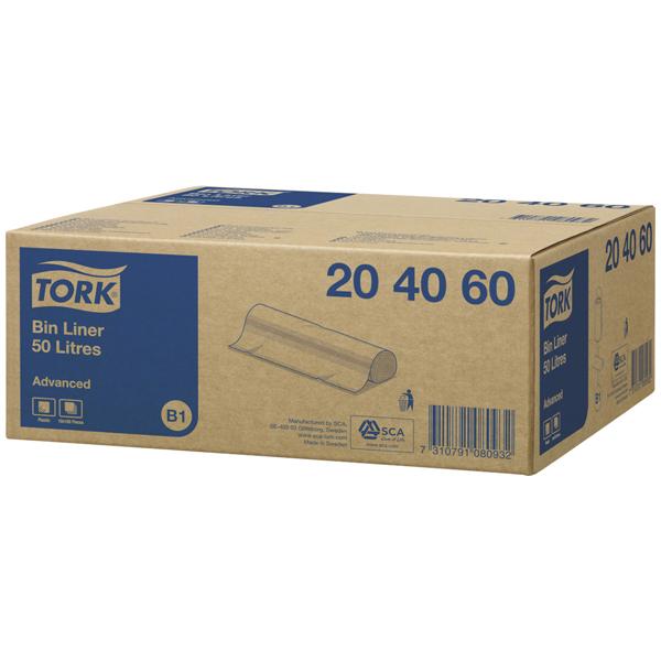 Tork Abfallsack 50 l transparent B1