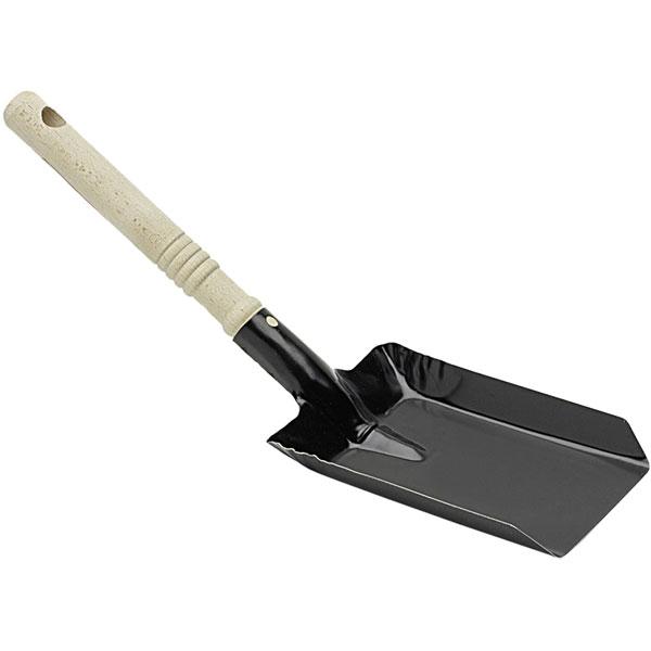 Kohleschaufel Metall schwarz 11,5 cm