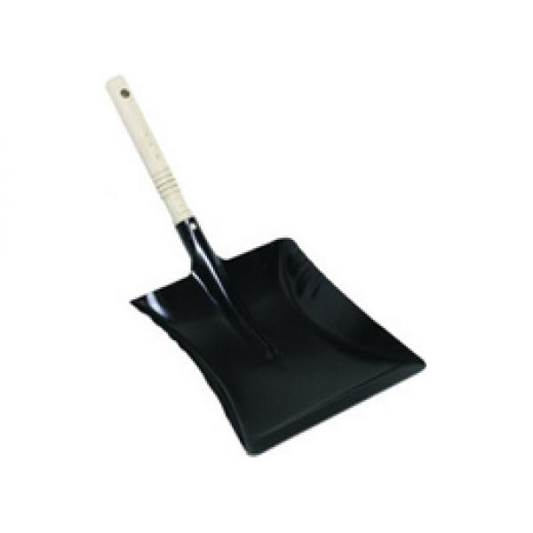 Kehrschaufel Holzgriff schwarz 22 cm