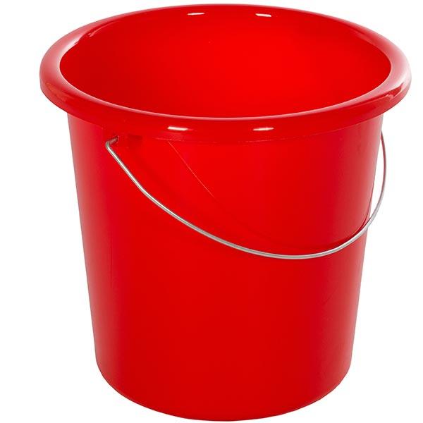 Plastikeimer rund 5 Liter rot