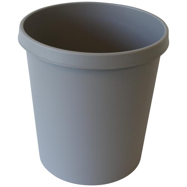 Helit Papierkorb 18l mitt-grau rund