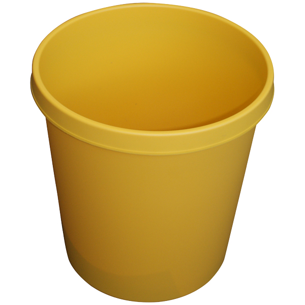 Helit Papierkorb 18l gelb rund