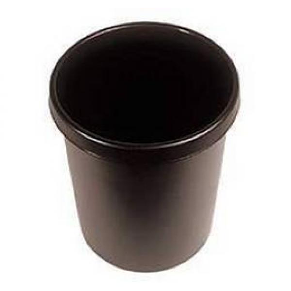 Helit Papierkorb 30l schwarz rund