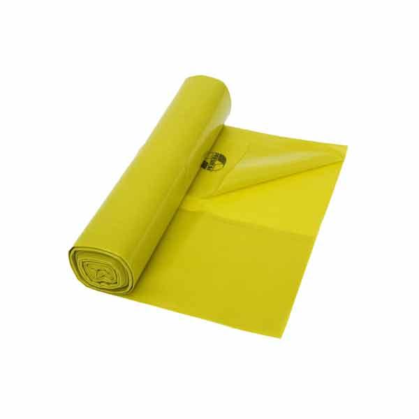 Müllbeutel aus LDPE DEISS 65 L, gelb