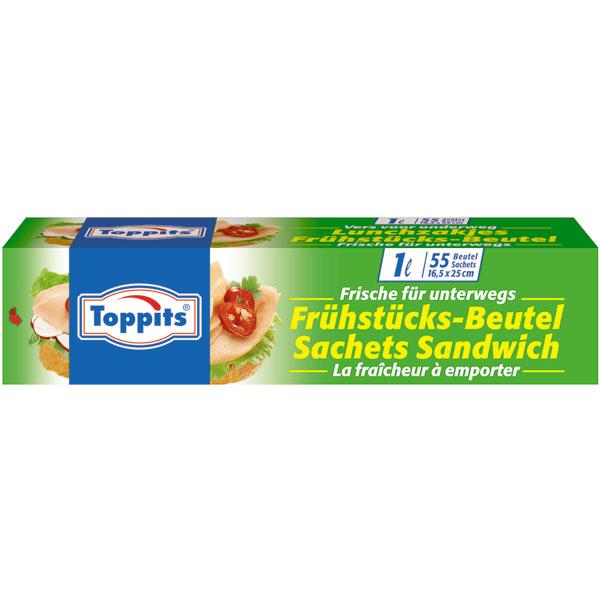 Melitta Toppits Frühstücksbeutel 1 l