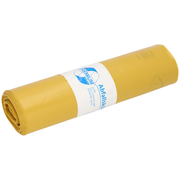 LDPE-Müllsäcke DEISS PREMIUM 70 L, gelb