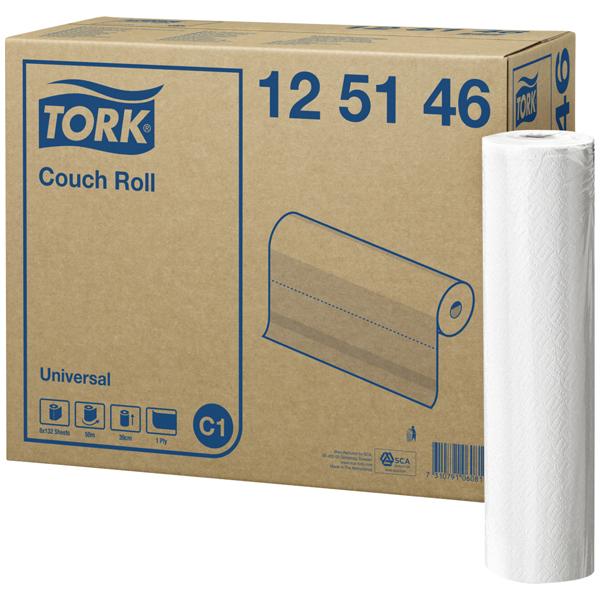 Tork Liegenabdeckung Weiß C1, Universal, 1-lagig, 8 × 50m, 12514
