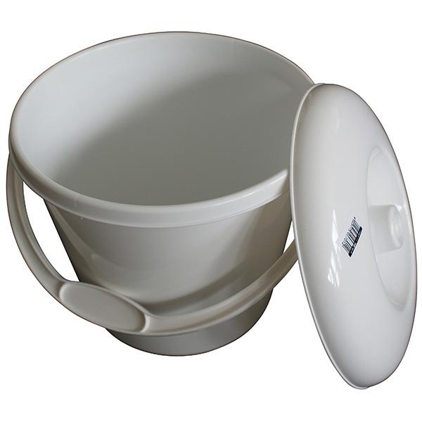 Plastikeimer 5 Liter (mit Deckel) weiß