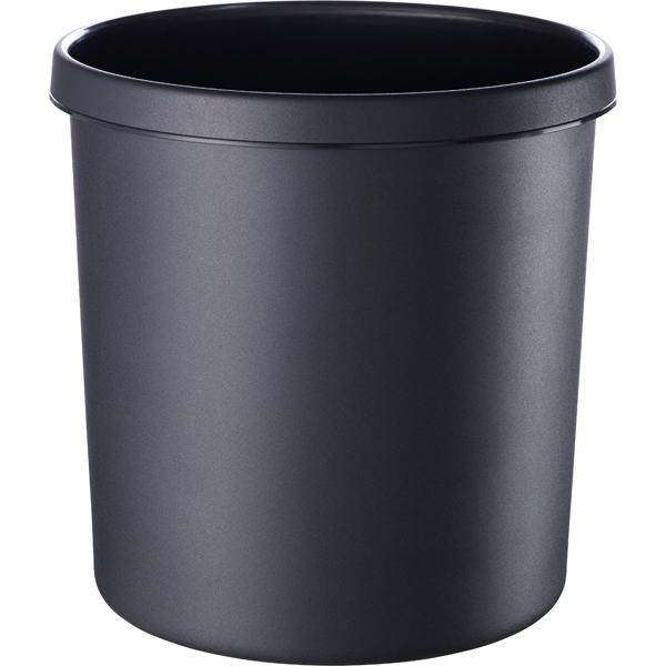 Helit Papierkorb 12l schwarz