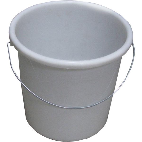 Plastikeimer rund 5 Liter weiß