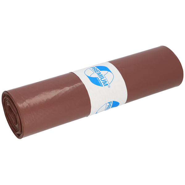 LDPE-Müllsäcke DEISS PREMIUM 120 L, braun