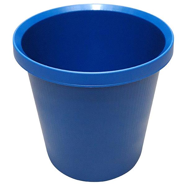 Helit Papierkorb 18l blau rund