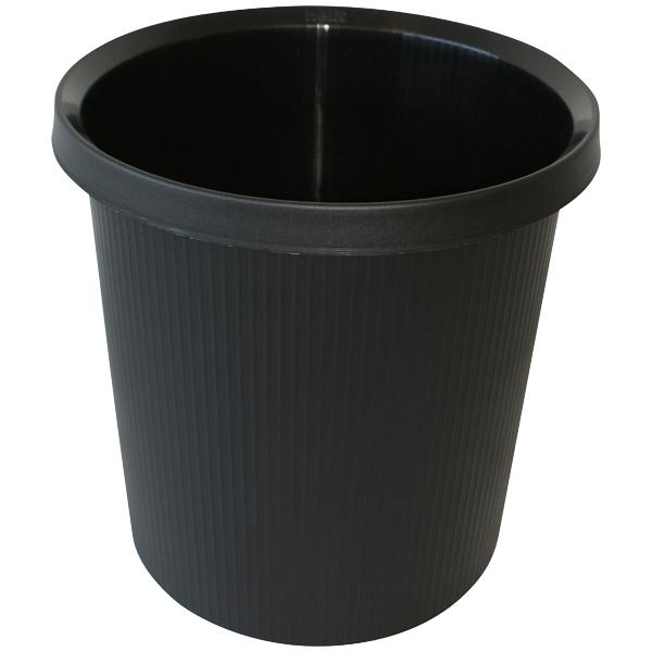 Helit Papierkorb 18l schwarz rund