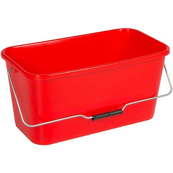 Putzeimer eckig 12 Liter rot