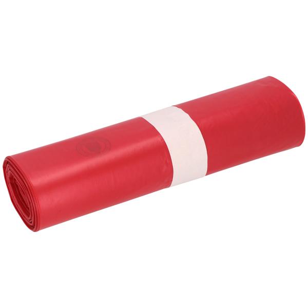 LDPE-Müllsäcke DEISS 70 L, rot
