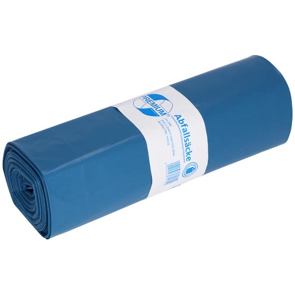 DEISS Premium® Abfallsäcke blau 140 Liter ( 20 Stück )