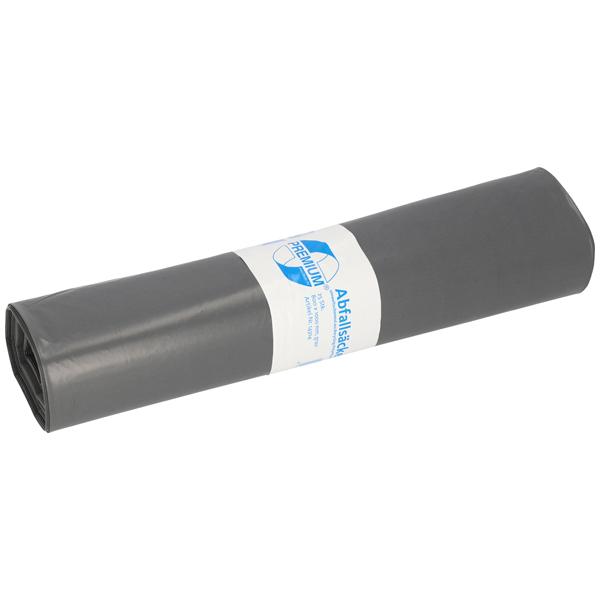 LDPE-Müllsäcke DEISS PREMIUM 120 L, grau