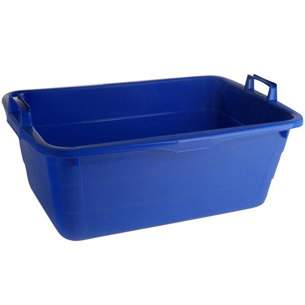 Wanne eckig 85 Liter blau