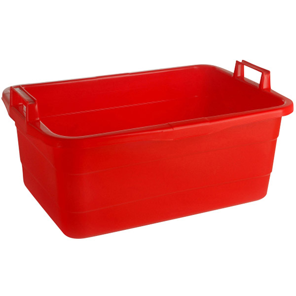 Wanne eckig 85 Liter rot