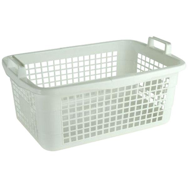 Wäschekorb eckig 45 Liter weiß