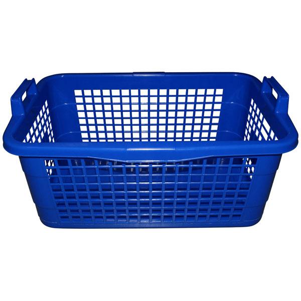 Wäschekorb eckig 45 Liter blau
