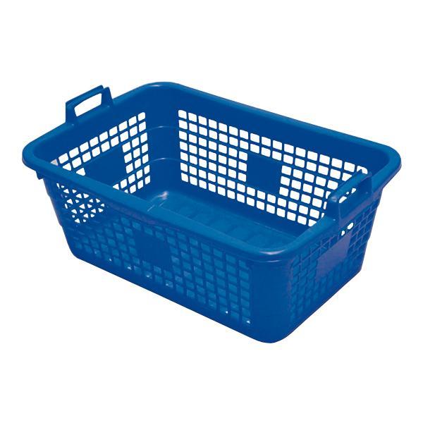 Wäschekorb eckig 85 Liter blau