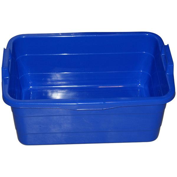 Wanne eckig 45 Liter blau