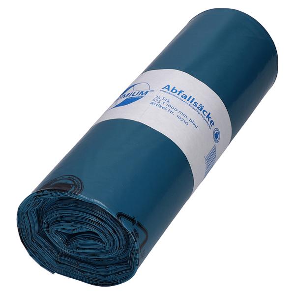 LDPE-Müllsäcke DEISS PREMIUM 70 L, blau
