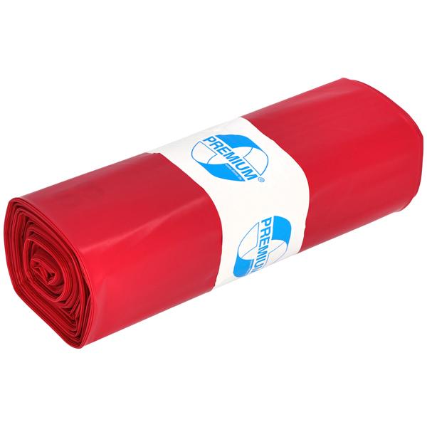 DEISS Premium® Abfallsäcke rot 70 Liter ( 25 Stück )
