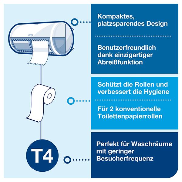 Vorschau: Tork Kleinrollen Toilettenpapier online kaufen - Verwendung 4