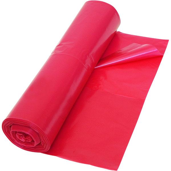 LDPE-Müllsäcke DEISS 120 L, rot