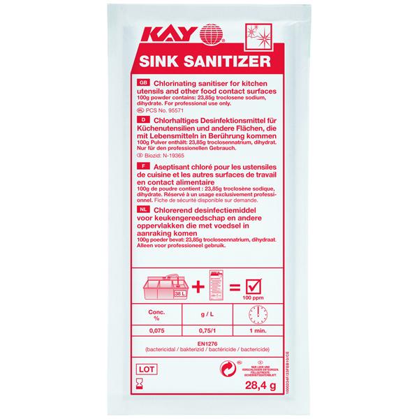 ECOLAB Kay Sink Sanitizer Desinfektionsmittel 200 x 28 g