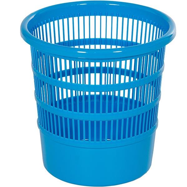 Papierkorb rund blau