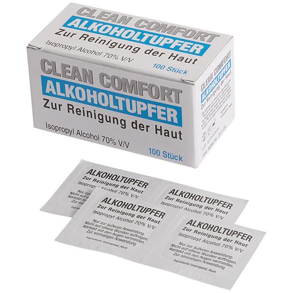 Clean-Comfort Alkoholtupfer 3 x 3 cm