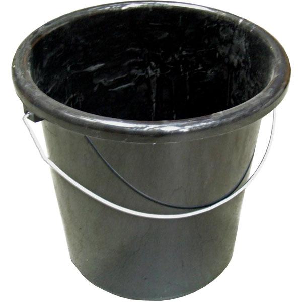 Plastikeimer rund 10 Liter schwarz