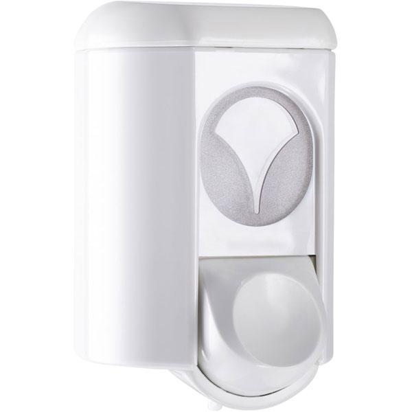 Seifenspender Clivia 35 weiß mit. Sichtfenster