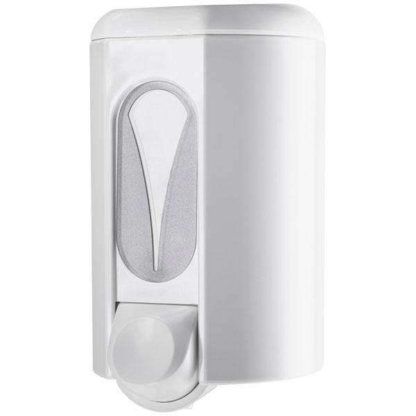 Seifenspender Clivia 110 weiß mit Sichtfenster